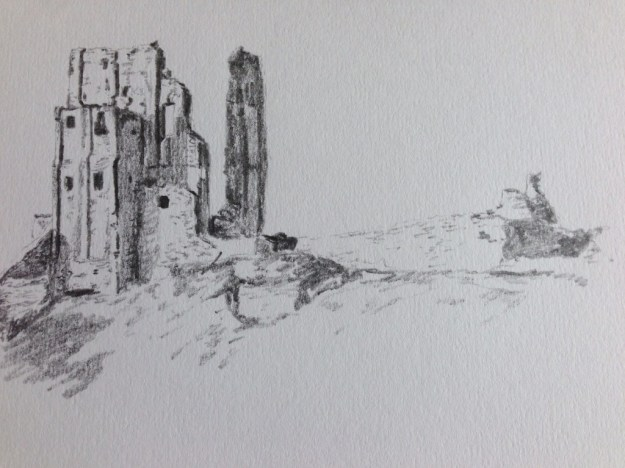 Corfe Castle sketch