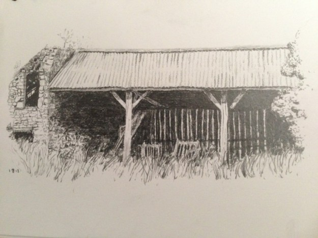Old French Barn sketch