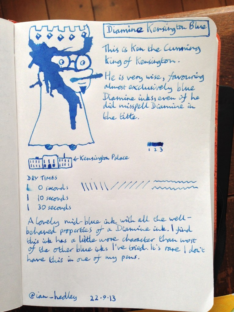 Diamine Kensington Blue ink review