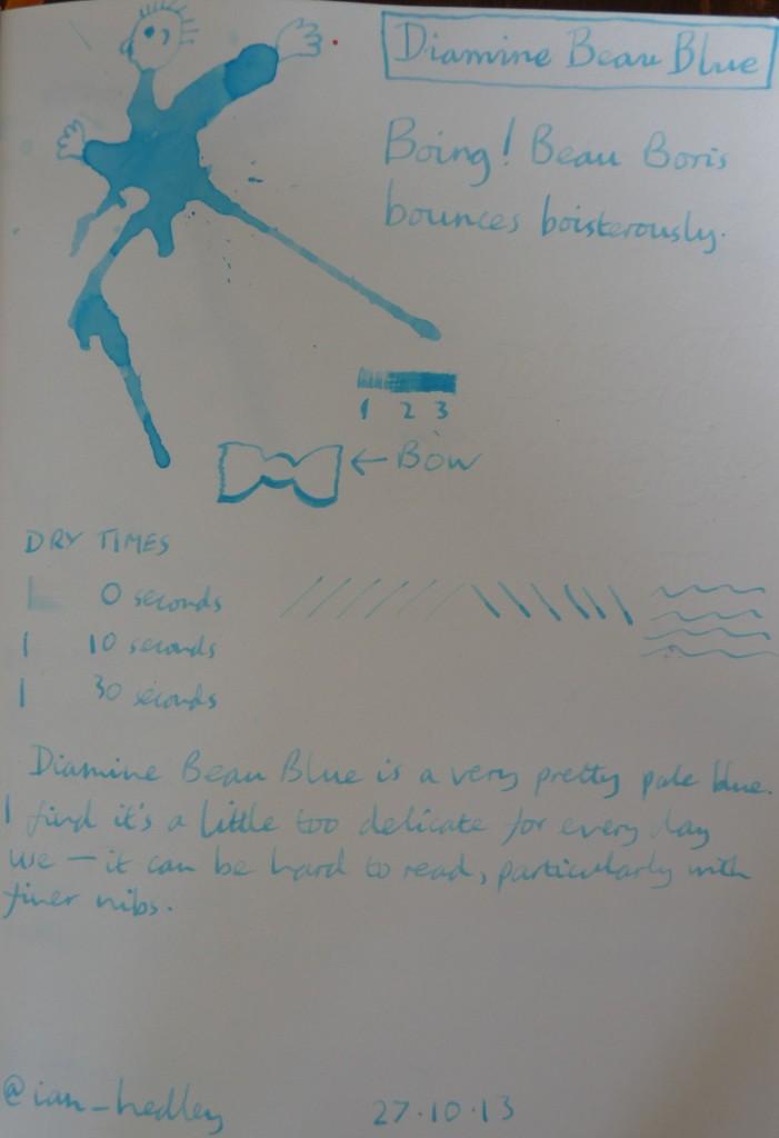 Diamine Beau Blue ink review