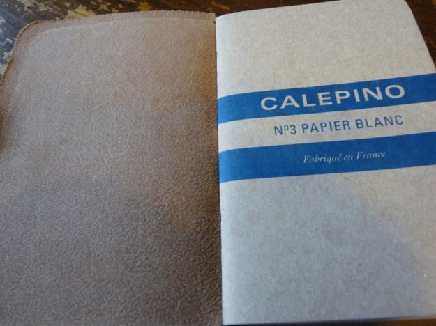 Calepino notebook in Davis Leatherworks cover