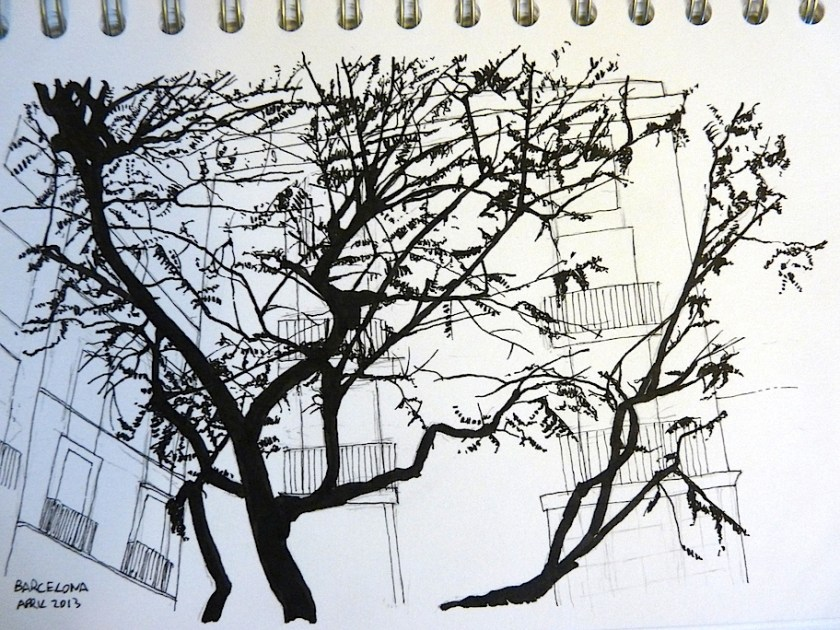 Barcelona April 2013 ink sketch