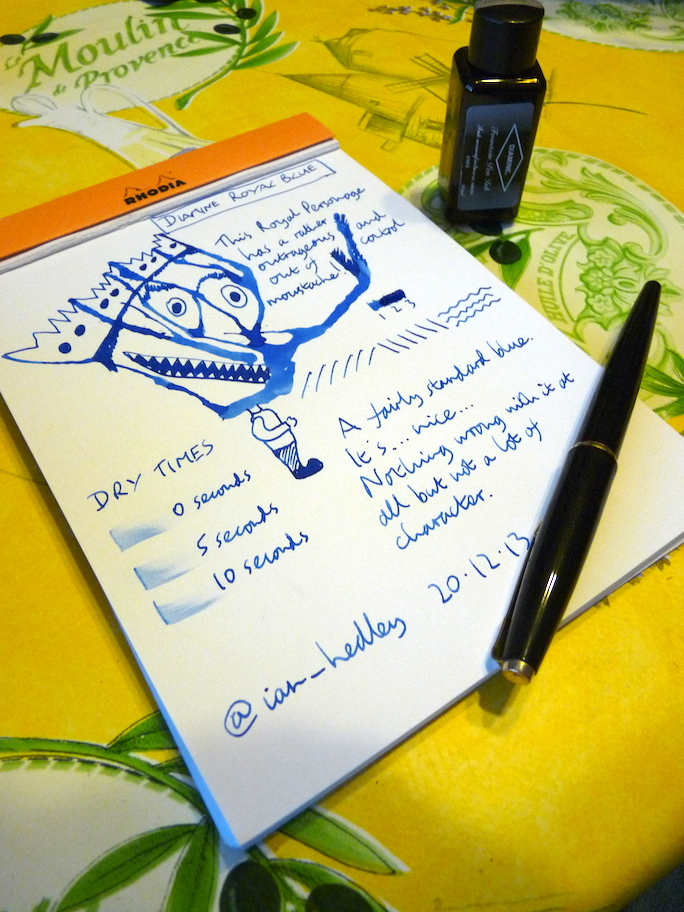 Diamine Royal Blue ink review