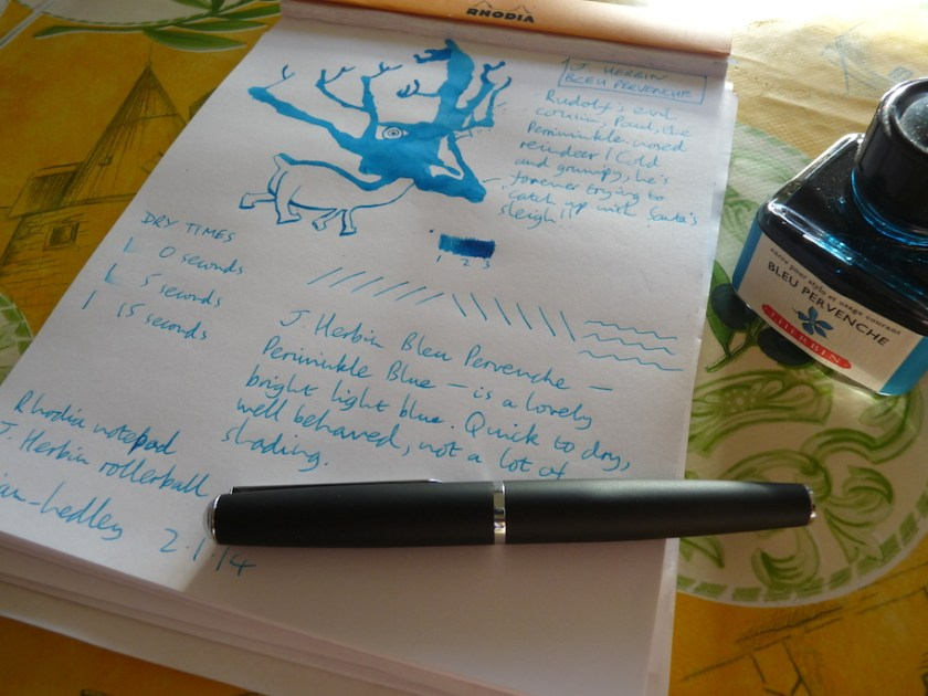 J. Herbin Bleu Pervenche ink review