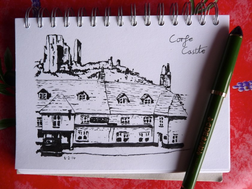 Corfe Castle and the Greyhound Pub