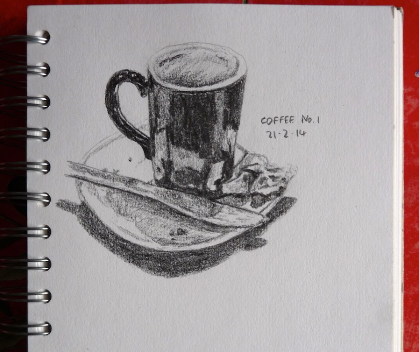 Empty coffee mug sketch