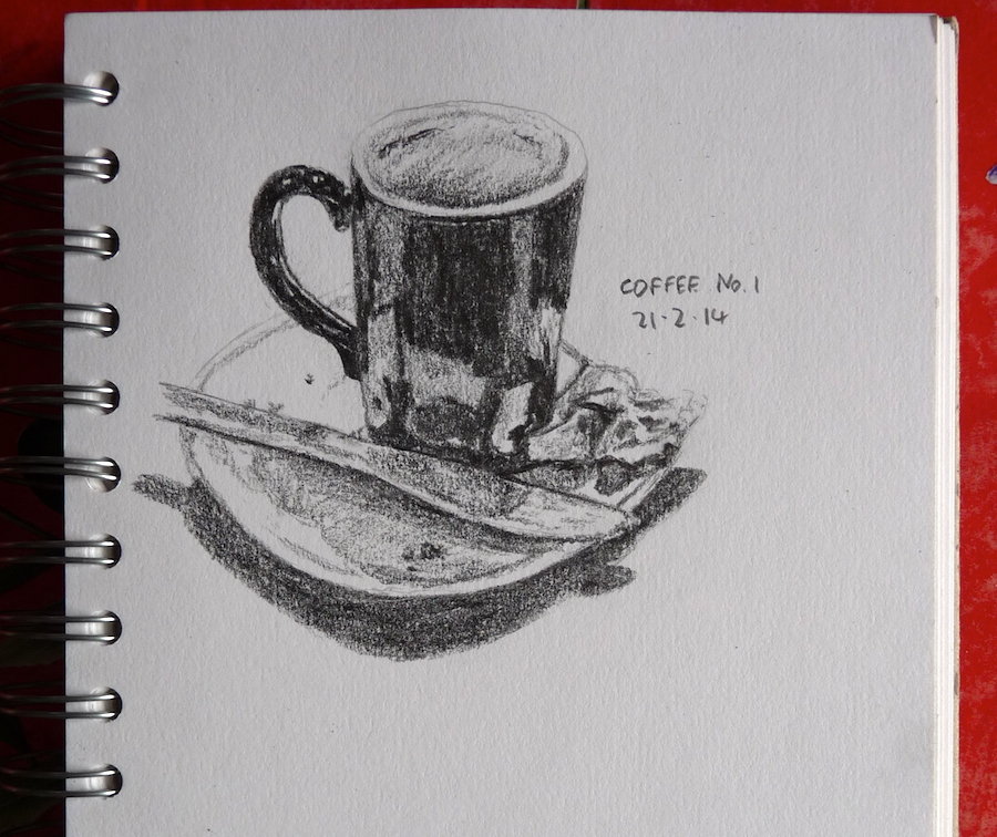 Empty coffee mug sketch
