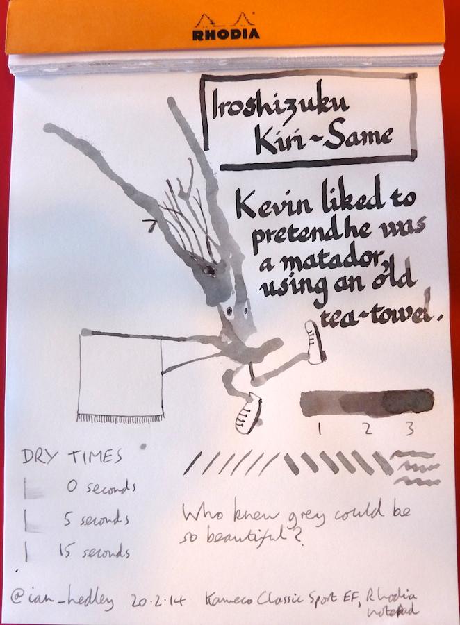 Pilot Iroshizuku Kiri-Same ink review Inkling doodle