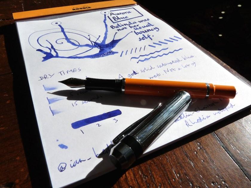 Aurora Blue ink review