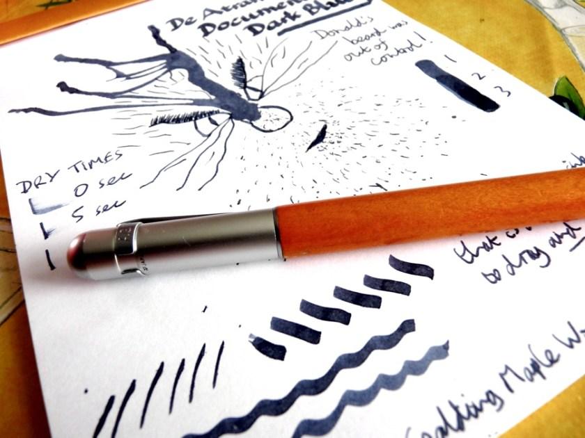 De Atramentis Document Ink Dark Blue ink review