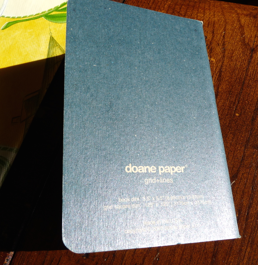 Doane Paper Grid Lines notebook back cover