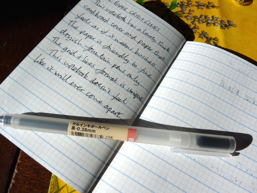 Doane Paper Grid Lines notebook handwritten review