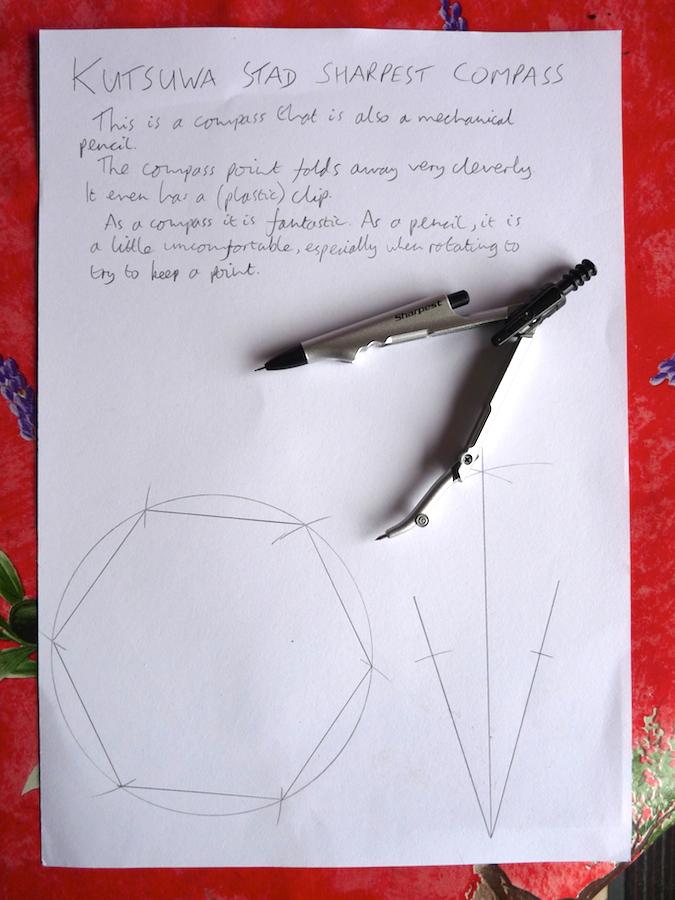 Kutsuwa Stad Sharpest Compass handwritten review