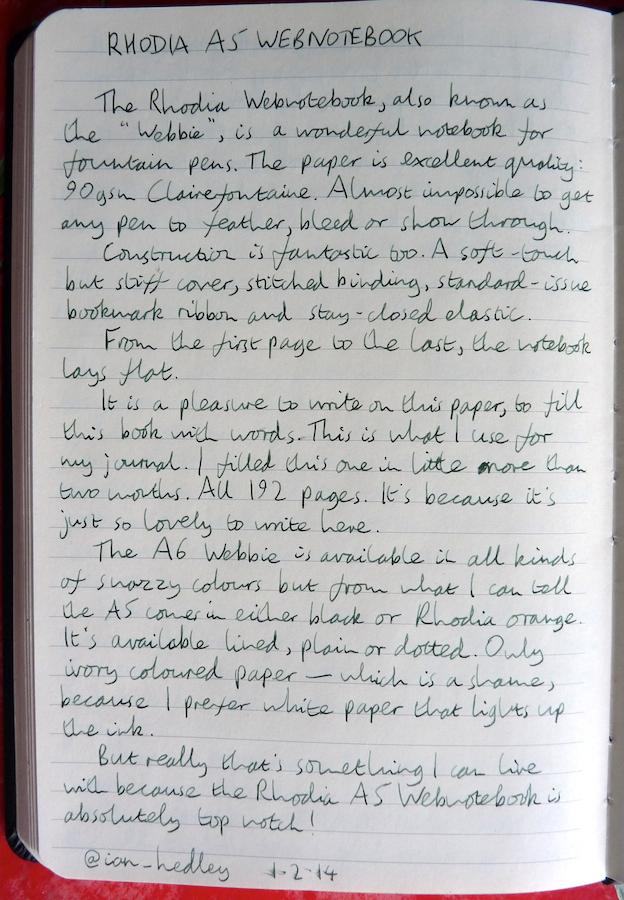 Rhodia Webnotebook handwritten review