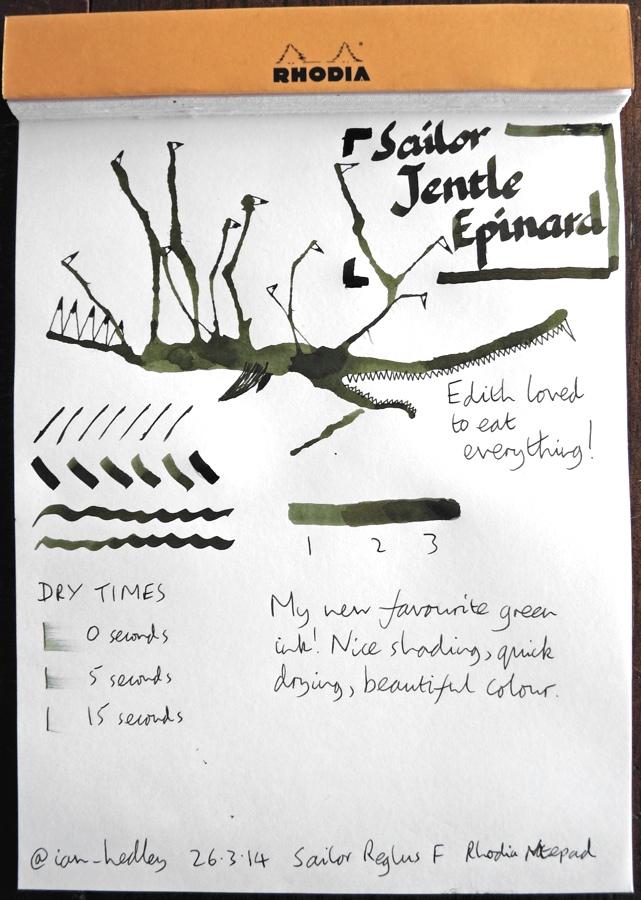Sailor Jentle Epinard ink Inkling doodle
