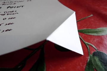 Da Vinci Notebook stone paper folded