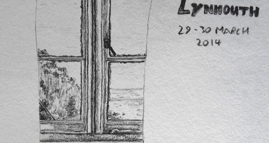 Lynmouth pencil sketch