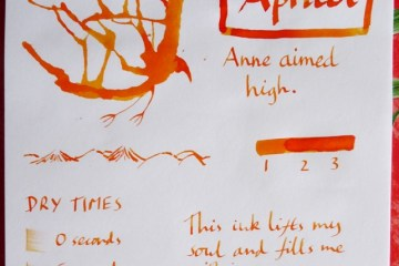 Sailor Jentle Apricot ink review Inkling doodle