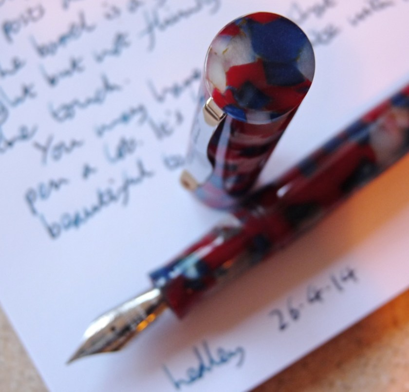 Twiss Patriotic Acrylic fountain pen cap