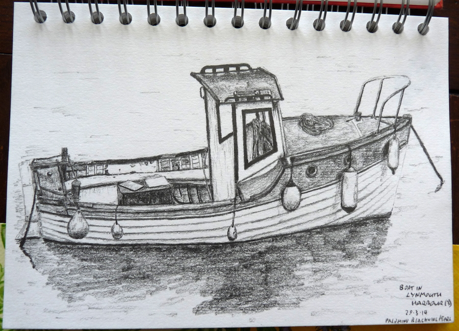 Boat in Lynmouth Harbour (3)