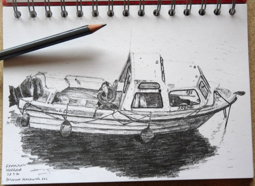 Boat in Lynmouth harbour 2