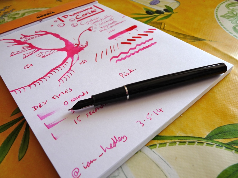 Diamine Cerise ink review