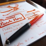 Diamine Peach Haze ink review