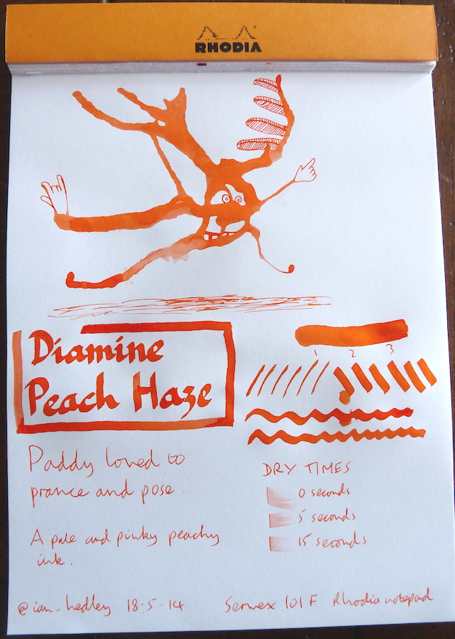 Diamine Peach Haze inkling
