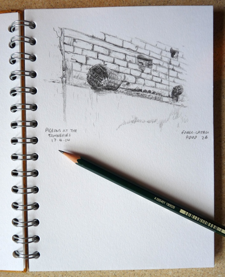 Faber-Castell 9000 pencil sketch example