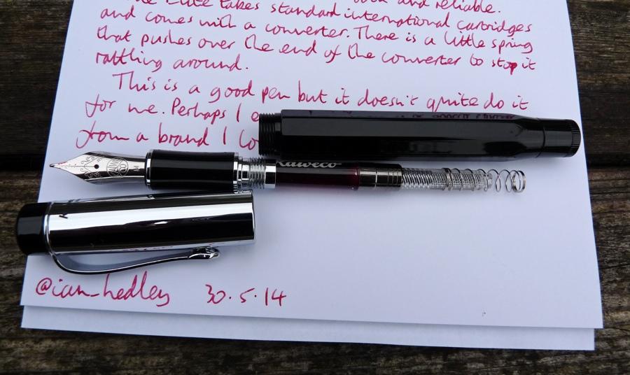 Kaweco Elite fountain pen deconstructed