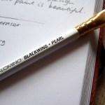 Palomino Blackwing Pearl pencil branding