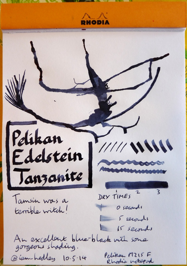 Pelikan Edelstein Tanzanite Inkling doodle