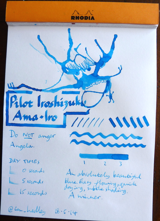 Pilot Irosizuku Ama-Iro Inkling doodle