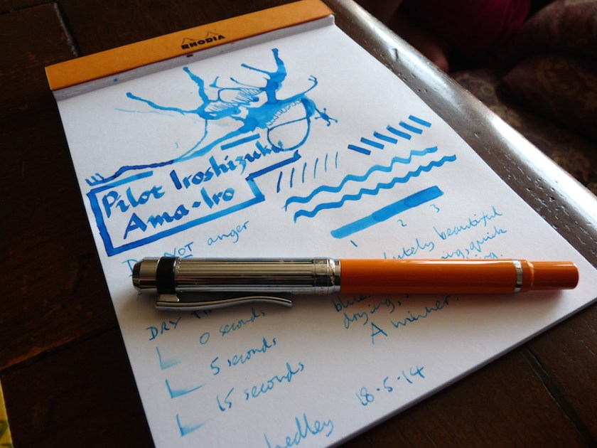 Pilot Irosizuku Ama-Iro ink review