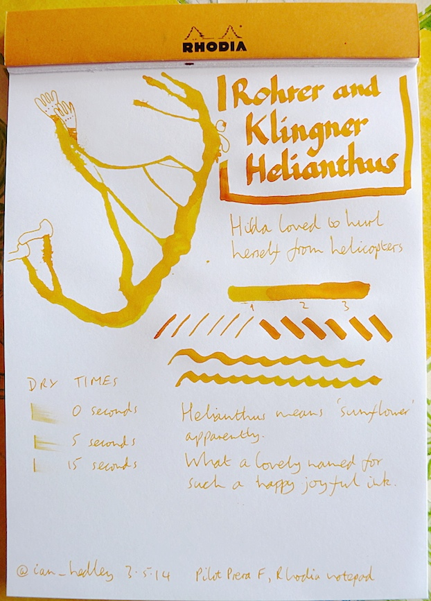 Rohrer and Klingner Helianthus Inkling