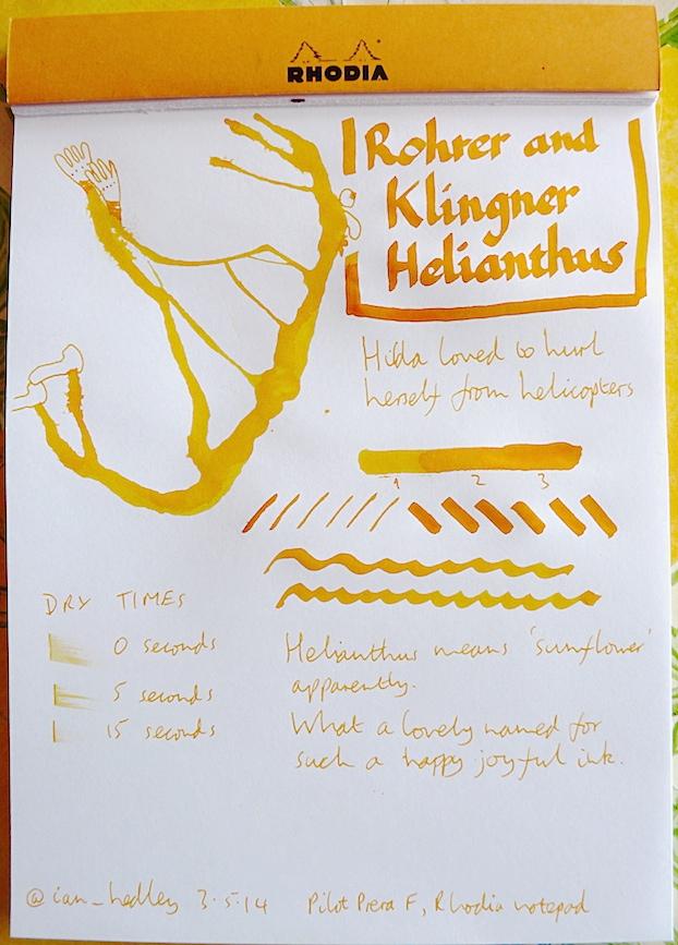 Rohrer and Klingner Helianthus Inkling