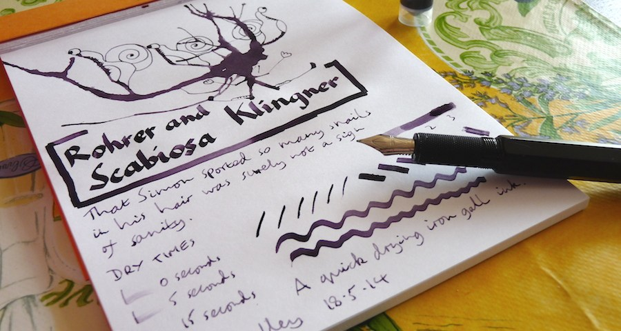 Rohrer and Klingner Scabiosa ink review