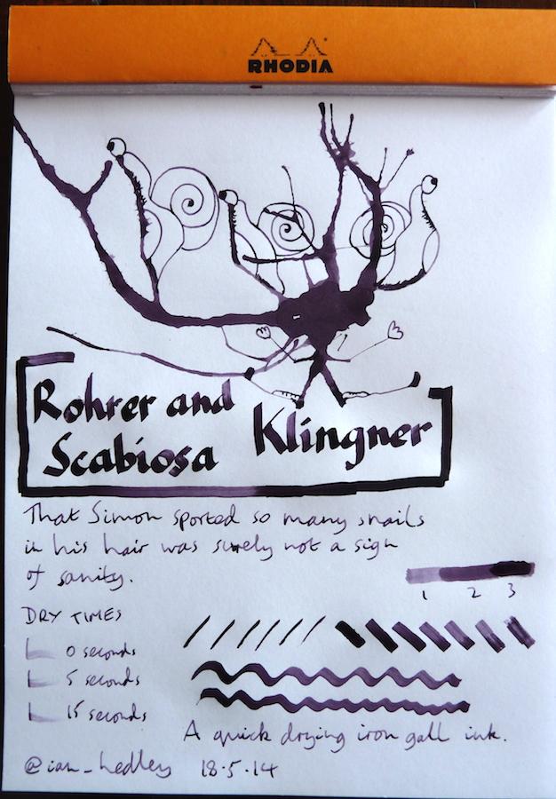 Rohrer and Klingner Scabiosa inkling