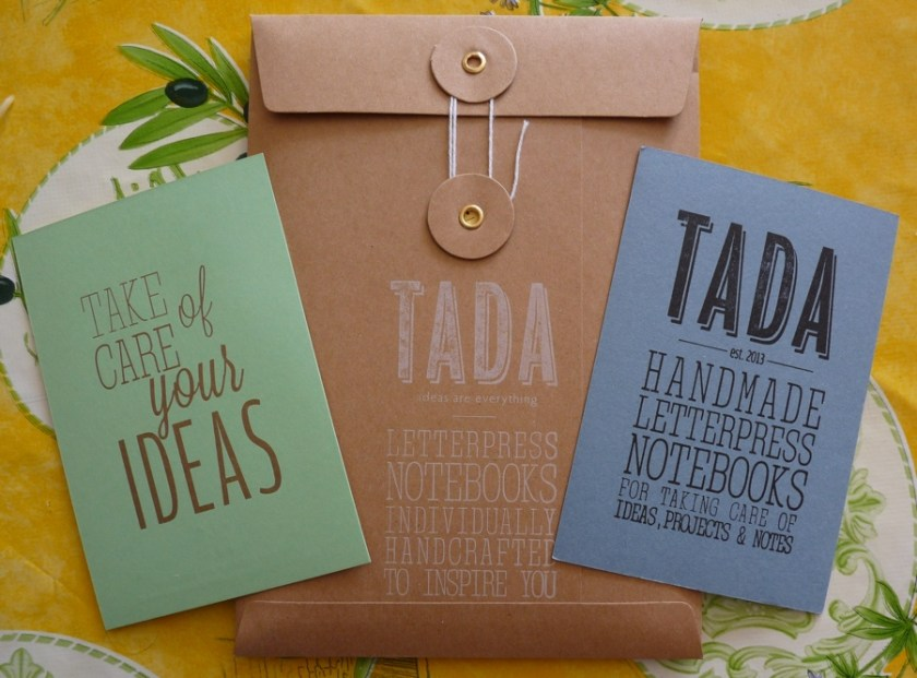 Tada A5 notebook packaging