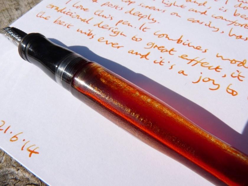 Franklin-Christoph M02 fountain pen eye dropper loveliness