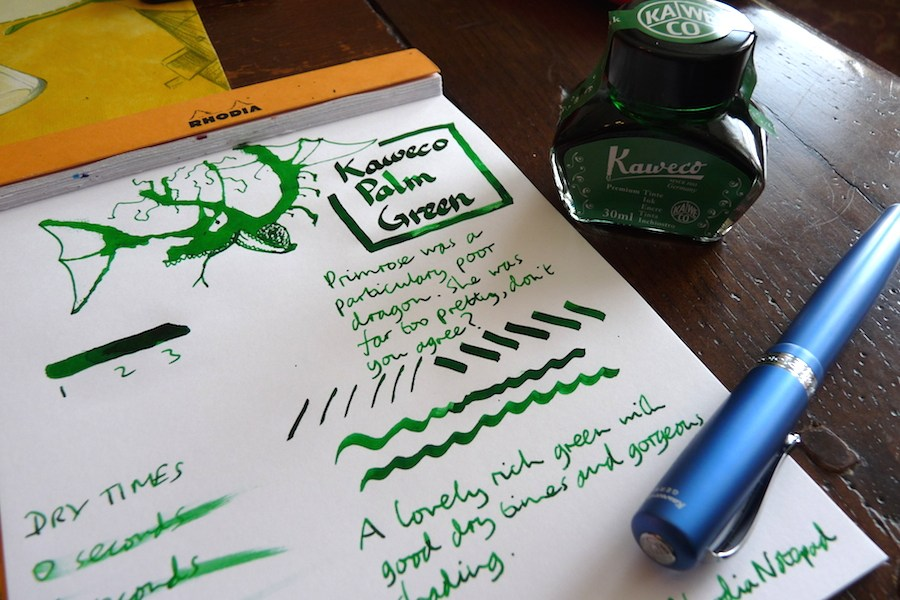 Kaweco Palm Green ink review