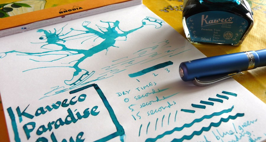 Kaweco Paradise Blue ink review