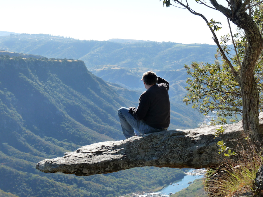 Admiring the view from Leopard Rock at Oribi Gorge