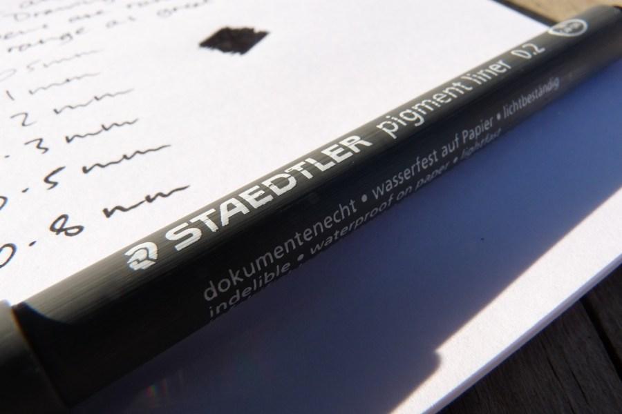 Staedtler 308 Pigment Liner branding
