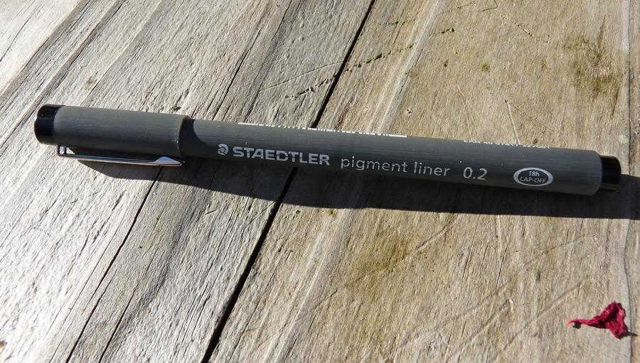 Staedtler 308 Pigment Liner full length capped