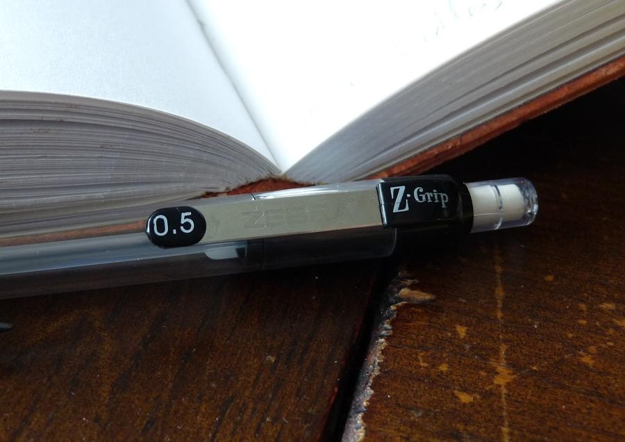 Zebra Z-Grip mechanical pencil clip