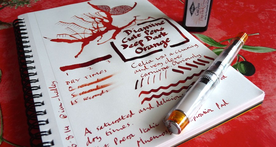 Diamine Cult Pens Deep Dark Orange ink review