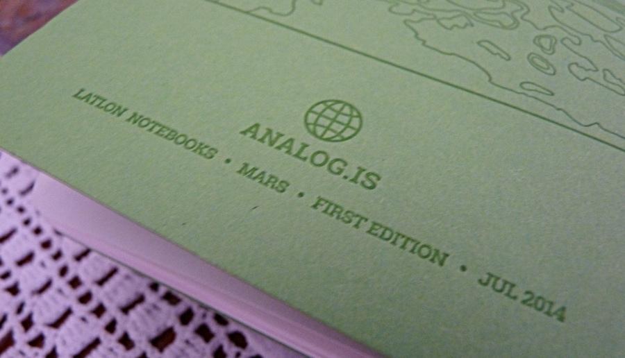 Analog LatLon notebook branding