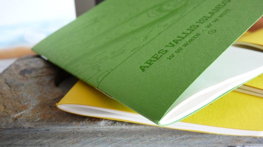 Analog LatLon notebook edge on