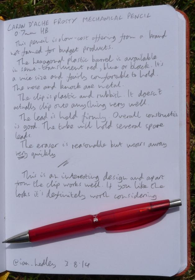 Caran dAche Frosty pencil handwritten review